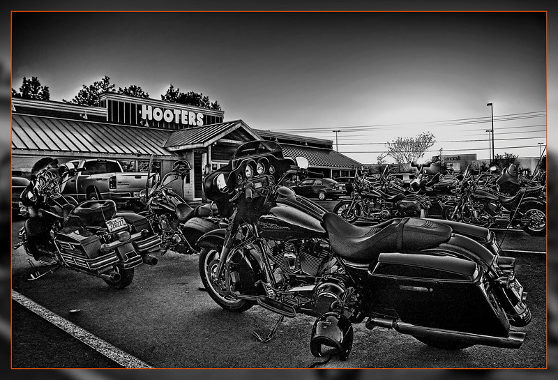 Bike night on Thursdays at Hooters in Manassas