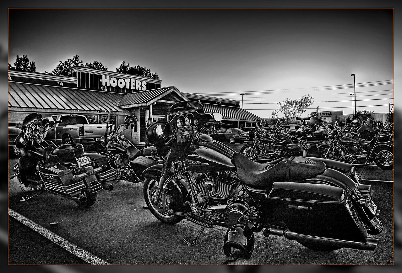 Bike night on Thursdays at Hooters in Manassas