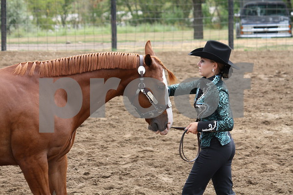 Katelyn Terhark of Corwith with Cortez.