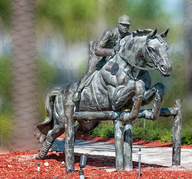 • Winter Equestrian Festival at Wellington<br /> • Metal Statue of a horse jumping at the entrance arenas