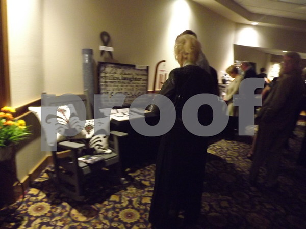 Looking at auction items.