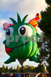 Hot air balloon with children story themes.  Hamilton, Waikato, New Zealand