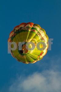Hot air balloon passing over my head.  Hamilton, Waikato, New Zealand