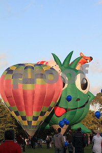 Hot air balloons, with children theme, in Hamilton, Waikato, New Zealand