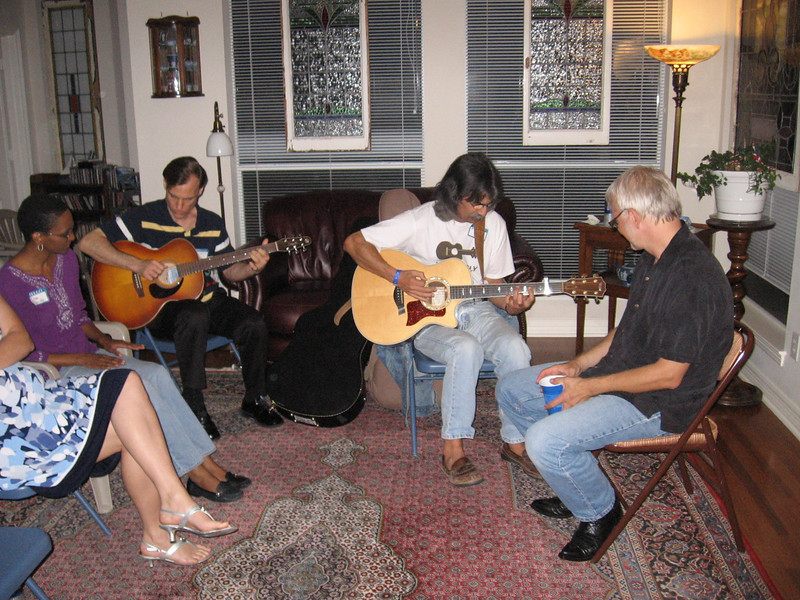 Lisa, Bruce, Scott and Hans in the song circle following the concert.