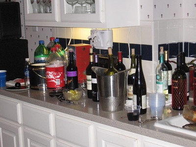 the wine bar is always a popular place.