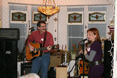 Ken Rosato accompanied by Annie.