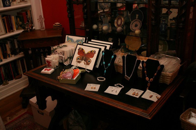 Artist Donna Pierce displayed her sterling silver handcrafted jewelry and greeting cards.