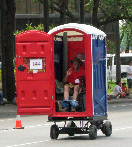 The driving port-a-potty.