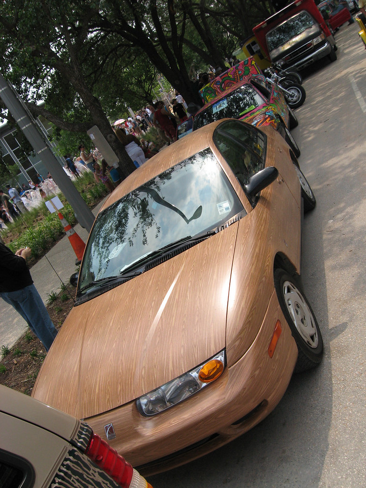 A wood grain Saturn!