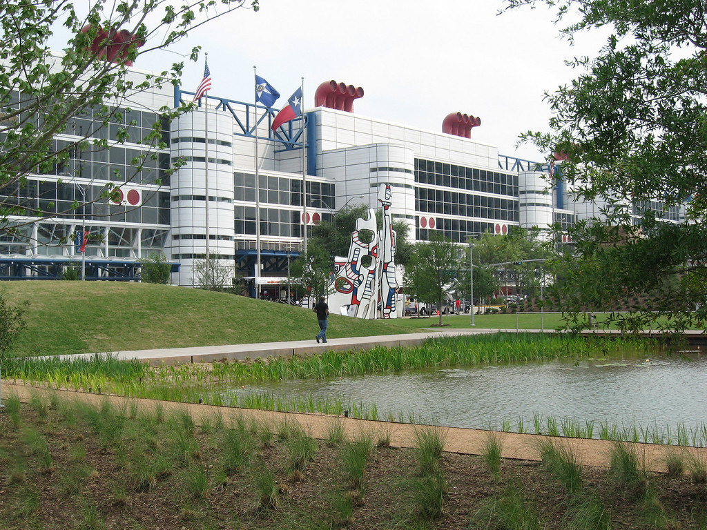 Discovery Green and the George R. Brown Convention Center