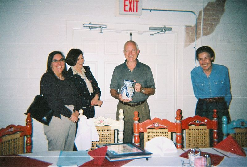 Presentation by Susan Toomey Frost at El Felix restaurant in 2003 on Mexican Tile and Mexican Postcards