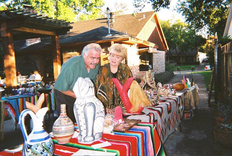 Los Amigos backyard social (and tianguis) in Houston - 2003