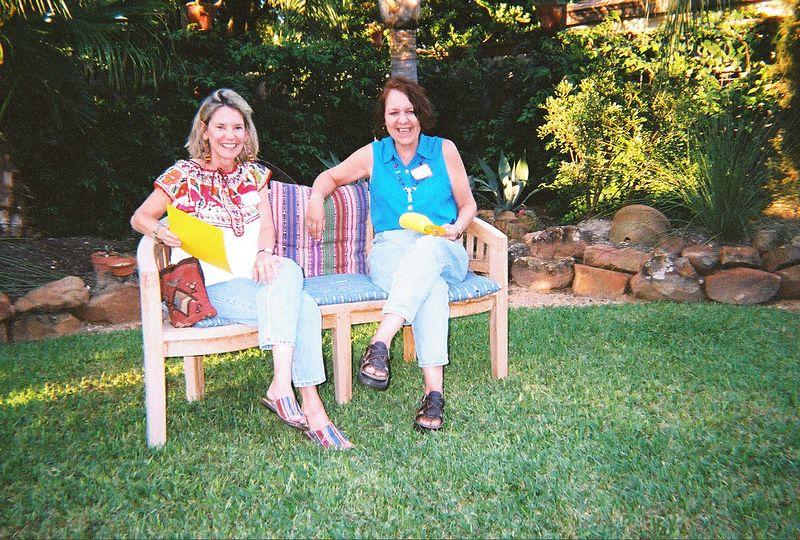 Los Amigos backyard social in Houston - 2003