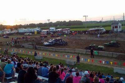 Couple nights later - Demolition Derby (w/my phone camera)
