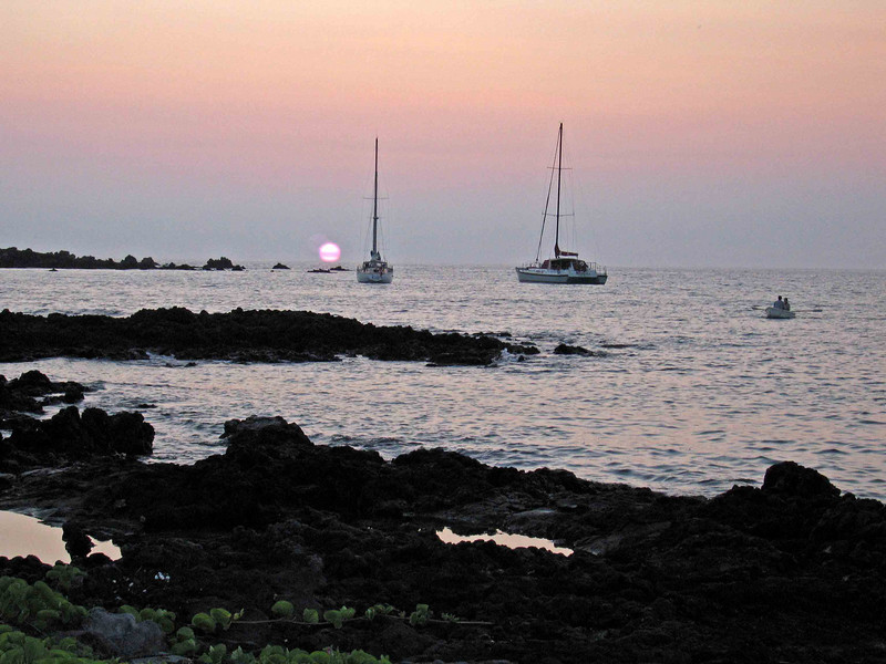 July full moon sunset at Mauna Lani