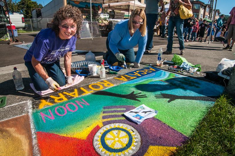 Pastels On The Plaza in Arcata, Humboldt County, California. October 5, 2013. [Arcata 2013-10 001 Humboldt-CA-USA]
