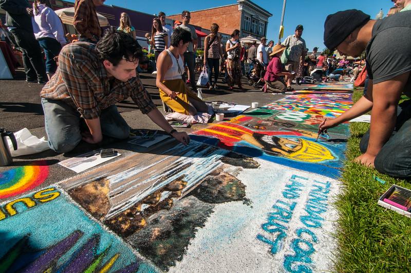Pastels On The Plaza in Arcata, Humboldt County, California. October 5, 2013. [Arcata 2013-10 012 Humboldt-CA-USA]