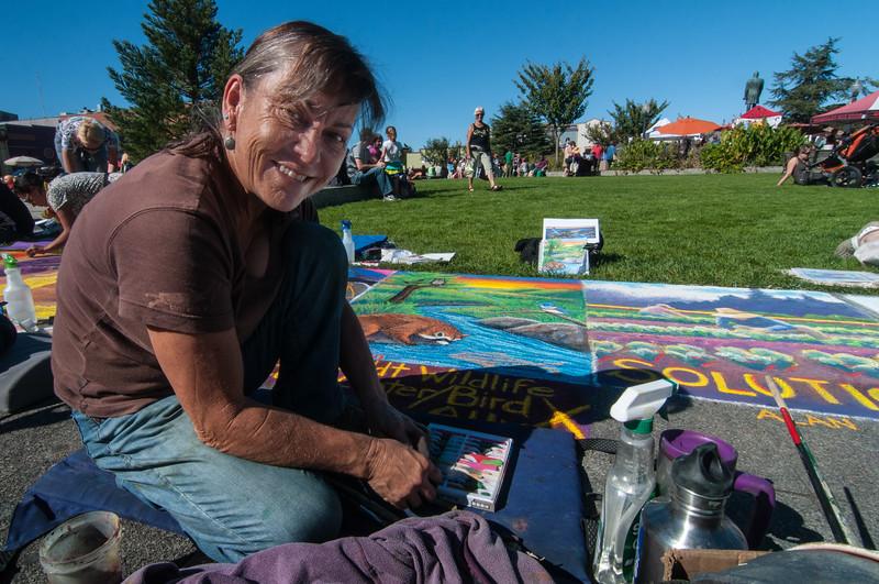 Pastels On The Plaza in Arcata, Humboldt County, California. October 5, 2013. [Arcata 2013-10 002 Humboldt-CA-USA]