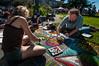 Pastels On The Plaza in Arcata, Humboldt County, California. October 5, 2013. [Arcata 2013-10 004 Humboldt-CA-USA]