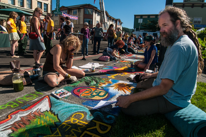Pastels On The Plaza in Arcata, Humboldt County, California. October 5, 2013. [Arcata 2013-10 003 Humboldt-CA-USA]
