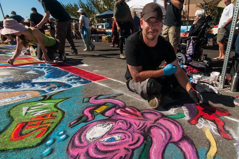 Pastels On The Plaza in Arcata, Humboldt County, California. October 5, 2013. [Arcata 2013-10 008 Humboldt-CA-USA]