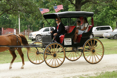 Visitors getting a carriage ride