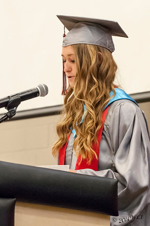 Valedictorian Takes the Podium