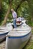 Canoe assembly line.