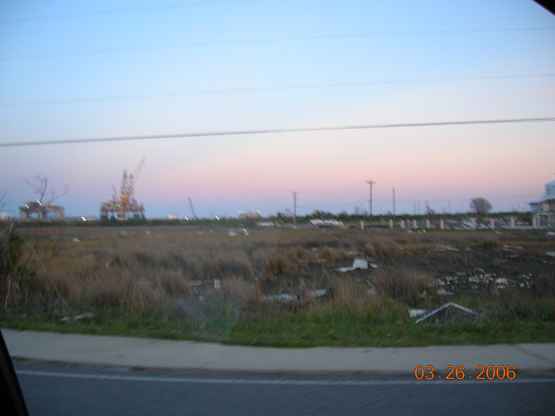 Another view looking over towards Signal Marine and Halter's Pascagoula yard.