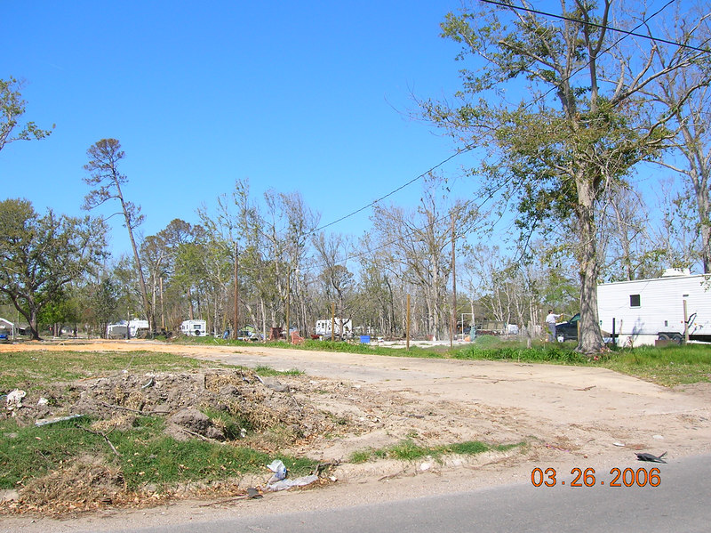 All of the remains of houses has been removed, in this small area.