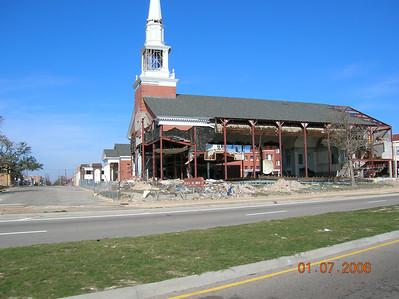 Hurricane Katrina Damage on the Mississippi Gulf Coast.