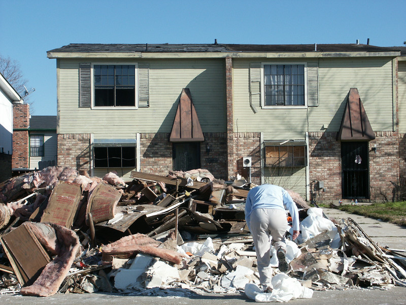 A pile of stuff taken from a flooded home