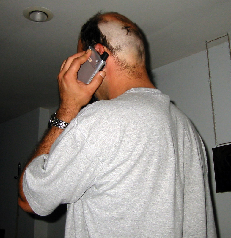 The day before Katrina hits.<br /> I stop shaving my head to as I beg my parents to actually leave their house as I watch CNN; there's only about 17 hours until the eye makes landfall.