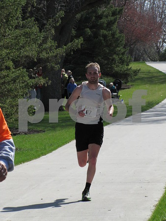 Devon Gurnett finished in first place in the half marathon.