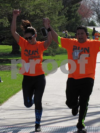 This happy couple finished the 5K together.