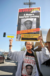 """LOS ANGELES CA: """"I AM TRAYVON RALLY """" WAS HELD IN LOS ANGELES CALIFORNIA AT WEST ANGELES CHURCH OF GOD OF CHRIST, NORTH CAMPUS WITH MASTER OF CEREMONY KURT """"BIG BOY"""" ALEXANDER RADIO HOST OF KPWR. ATTORNEY BENJAMIN L. CRUMP REVEREND JESSE JACKSON, REVEREND AL SHARPTON , AND A HOST OF CELEBRITES AND ACTIVIST SHOWED UP TO SUPPORT THE FAMILY OF TRAYVON MARTIN.  (Photo by Valerie Goodloe)"""