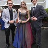 Innovation Academy Charter School prom. From left, Jacob Babcock of Dracut, Tess Colella of Chelmsford and Tom Bojsen of Billerica. (SUN/Julia Malakie)