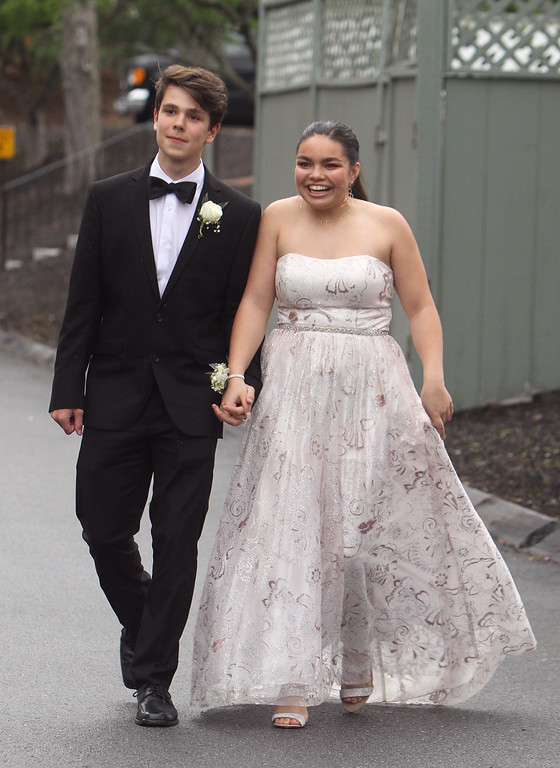 . Innovation Academy Charter School prom. Pierre-William Lessard of Tyngsboro and Morgan Frazier of North Billerica. (SUN/Julia Malakie)