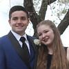 Innovation Academy Charter School prom. Declan Donahue of Dracut and Caitlyn Pennie of Billerica.  (SUN/Julia Malakie)