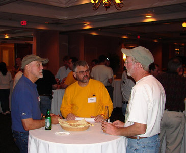 3/10 - Alan Leduc in the yellow shirt, with a couple of friends.