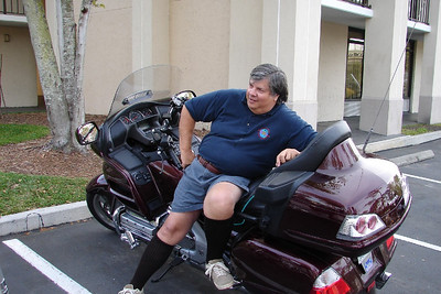 3/9 - Don Moses relaxing on his sparkling new GL1800.
