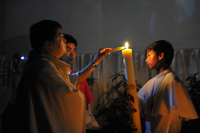 IHM Easter Vigil Mass with Baptism 2012
