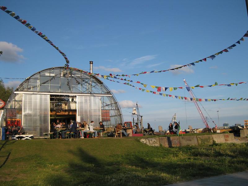 Noorderlicht restaurant in the NDSM wharf