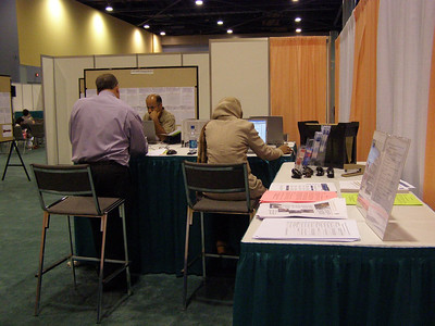 Employers accessing the careers online system at the FASEB Career Center/MARC Program Resource Center - IMMUNOLOGY 2007 meeting in South Beach, FL.