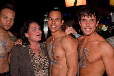Photographs and Video of Open Bar Night sponsored by IS Vodka at Krave Club in Las Vegas. IS Vodka held open bar with 2 ice sculptures and gave out shots and mixed drinks with iS Vodka. On hand to make sure everyone had a great time were the iS Men, a trio of drop dead gorgeous male models. These cowboys were wild, and made sure the good times kept going.