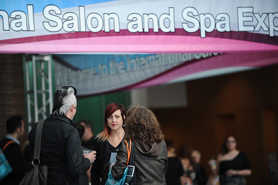 Beauty professionals at ISSE Long Beach 2012
