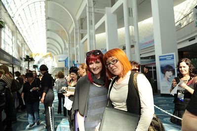 Beauty professionals ready for a great first day at ISSE Long Beach