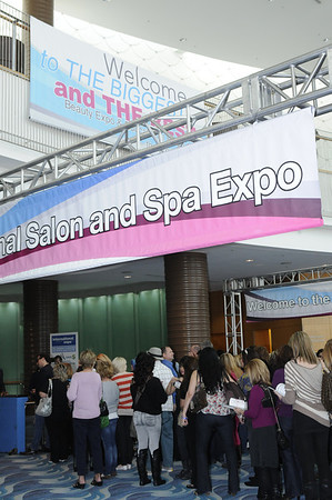 Heading downstairs to the ISSE Long Beach show floor.