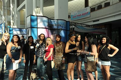 Young beauty professionals ready to hit the show floor